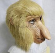 MASCARELLO® Latex Full Head Animal Proboscis Monkey Fancy Dress Up Carnival Prop Party Mask
