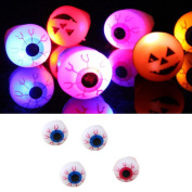 VENMO Happy Halloween Party Decoration Prop Led Pumpkin Light Toy Art Eyes Flashing Finger Ring Light For Kids & Adults