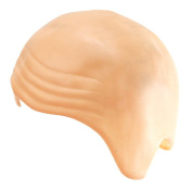 Thick Bald Skin Head Skull Wig Cap Fancy Dress Cosplay Hat - Skin