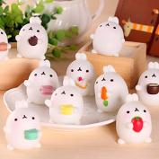 ZHUOTOP Squeeze Toy Cute Mochi Squishy Rabbit Squeeze Healing Fun Kids Kawaii Toy Stress Reliever