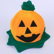 Janly® Cos Halloween Pumpkin Hat Pumpkin Motifs Lint Top Orange Dress Up the Hat