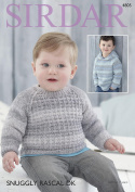 Sirdar 4805 Knitting Pattern Baby Boy's Sweater and Hoodie in Sirdar Snuggly Rascal DK