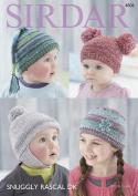 Sirdar 4806 Knitting Pattern Baby Childrens Hats in Sirdar Snuggly Rascal DK