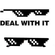 Deal With It Glasses,VENMO Thug Life Shades 8-Bit Pixel Sunglasses Funny Party Favour Toy For Kids & Adults