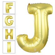 100cm Matte Gold Alphabet J Balloon Birthday Party Decorations Helium Foil Mylar Letter Balloon