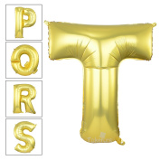 100cm Matte Gold Alphabet T Balloon Birthday Party Decorations Helium Foil Mylar Letter Balloon