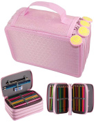 Greenmigo Pencil Case,72 Slots Large Inserting Multi-layers Students Pencil Bag Pencil Pouch Makeup Cosmetic Case(Pencils Not Included)
