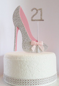 21st Birthday Cake Decoration Shoe with Diamante Number Non- Edible