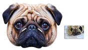 Mask Pack - Pug Dog Animal Face Mask - includes 6x4 inch (15cm x 10cm) Star Photo
