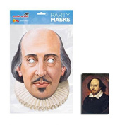 Mask Pack - William Shakespeare Single 2D Card Party Face Mask - includes 6x4 inch (15cm x 10cm) Star Photo