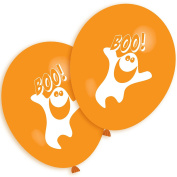 40 Happy Halloween Printed Orange Balloons Spooky Scare Boo Ghost