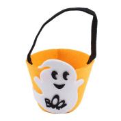 MORESAVE Halloween Pumpkin Bag Kids Candy Handbag Pumpkin Candy Buckets Treat Bags