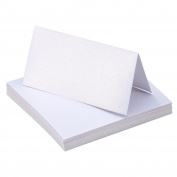 Bememo 50 Pieces White Table Cards Name Place Cards for Wedding Party Decoration