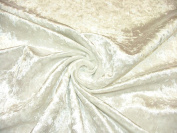 "1m ""Diamond"" White Crushed Velvet Fabric - Ideal For Curtain Upholstery Cushions Blinds"