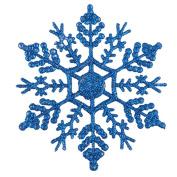 bismarckbeer 12 Pcs Snowflake Shape Ornaments Home Shop DIY Christmas Tree Hanging Decoration