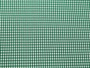 Gingham Print Polyester Seersucker Dress Fabric Green - per metre
