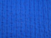 Bubbles Print Seersucker Cotton Dress Fabric Royal Blue - per metre