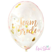 10 Confetti Filled Team Bride Hen Night Balloons with Free Ribbon