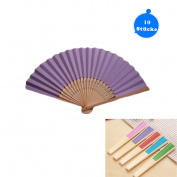 Dproptel Hand Fan Pocket Paper Fan 10 Compartments with Gift Bags Wedding Party Guest Favour Wedding Decoration