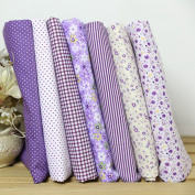 7pcs Quilt Cotton Fabric Bundle 25 x 25cm
