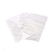 Lalang 10pcs Laser Cut Wedding Party Invitation Card Hollow Out Decorative Greeting Cards