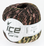 LADDER YARN by Ice Yarns No 42715 Brown/Gold mix.+ Free Scarf Pattern
