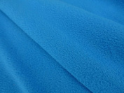 Jersey Backed Micro Fleece Sports Fabric Material For Textile Crafts Stretch - TURQUOISE