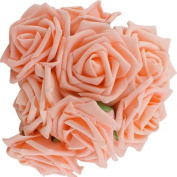 Foam Rose, 10 pcs 7 CM Artificial Simulation Rose Bouquet Flower PE Floral Flowers Foam Rose Bride Bouquet Wedding Decoration