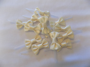 Pre-tied Satin Ribbon Bows with Twist Tie 100
