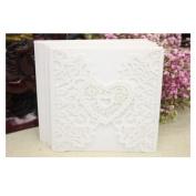 VWH 10Pcs Hollow Wedding Evening Invitations Party Birthday Greeting Cards Love Decorative