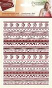 Sara Signature Collection Scandinavian Christmas Folder - Contemporary Folk, Transparent