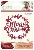Sara Signature Collection Scandinavian Christmas Die - Merry Christmas, Silver