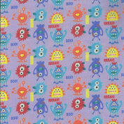 Pink Themed Monster Mayhem Design from Fabric Freedom – 100% Cotton British Designed Craft Fabric for Patchwork & Quilting, Lovely Coordinated Colours & Prints – (Price per /QUARTER Metre)
