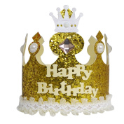 A-SZCXTOP Pure Handmade Crown Birthday Cap for Children Record the Kid's Each Growth Suitable for Both Boys & Girls Good Gift for Kids