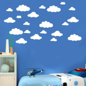 Wall Sticker, Chshe 31pcs / set DIY Large Clouds 4-25cm Removable Wall Decal Family Room Home Sticker Mural Art Home Decor for Children's Room Fridge Furniture Living Room Bedroom TV Background Wall