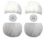 Snow White House of Cecilia 2 x 100g balls 100% acrylic knitting yarn crochet crafts