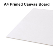 A4 Artist 100% Cotton Canvas Boards Primed Panels Gesso For Acrylic Oil Painting 210 x 297mm