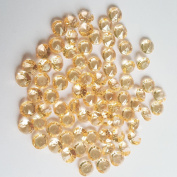 AiFanS 2000Pcs Gold 6.5mm Acrylic Diamond Gems For Table Scatter Table Confetti (Clear)