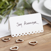 Ginger Ray White Scalloped Edge Wedding/ Party Place Cards