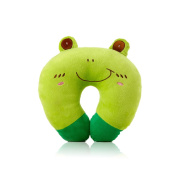 U-shaped Plush Pillow Travel Pillow Cartoon Animal Car Headrest Pillow Frog