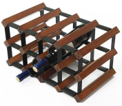 Red wine rack, Solid wood Decoration living room restaurant Creative Antique colour Long 41.7x high 22.7x wide 23.5cm
