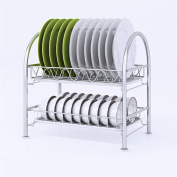 Ahui Dish Plates Cups Drainers 2 Tier Chromed Mug Holder Cutlery Drainer Rack Holder Shelf Storage 304 Stainless Steel , A