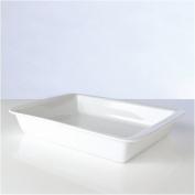 BergHOFF Professional Vitrified Porcelain Rectangular Baking/Serving Dish, 38cm, White