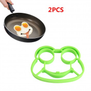 QuiCi 2pcs Kitchen Gadgets Tool Silicone Egg Frog Rings Moulds Fried Frying Pan Mould Cooking Tools