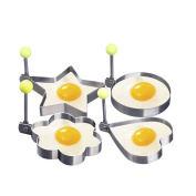 4 Sets of Thickened Stainless Steel Omelette Model Love Fried Egg Circle Omelette Mould
