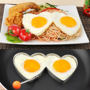 Xshuai Stainless Steel Fried Egg Mould Non-Stick Egg Rings Cooking Egg Shaper Pancake Omelettes Mould Rings Kitchen Tool for Breakfast
