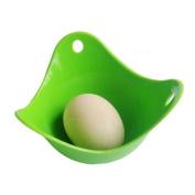 Egg Poacher Poached Eggs Silicone Kitchen Tool - Green