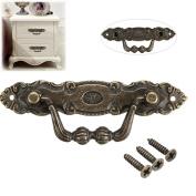 Sorliva Drawer Handle,2pcs Pulls Knobs Vintage Retro Antique Bronze for Dresser Drawer Cabinet