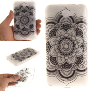 For Huawei Y5 II / Y5 2 Case Cover, Ecoway TPU Clear Soft Silicone Back Colourful Printed Pattern Silicone Case Protective Cover Cell Phone Case for Huawei Y5 II / Y5 2 - Black sunflowers