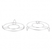 DealMux Stainless Steel Cookware Steamer Food Steaming Rack Stand 18cm Diameter 2pcs